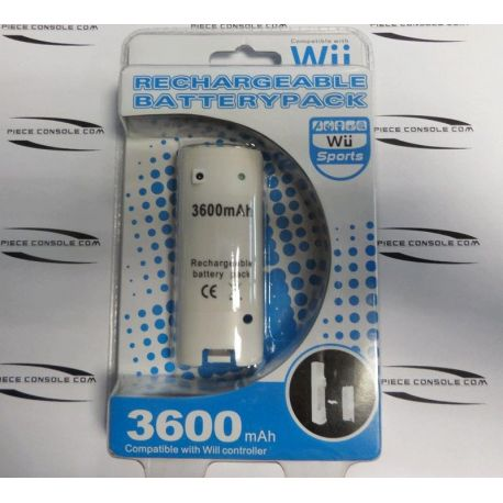 Batterie blanche pour manette wii rechargeable