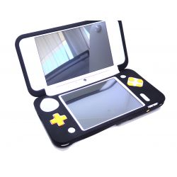 Housse de protection en silicone noir Nintendo NEW 2Ds.xl