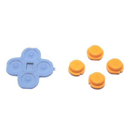 Boutons ABXY & caoutchouc orange Nintendo NEW 2Ds.xl