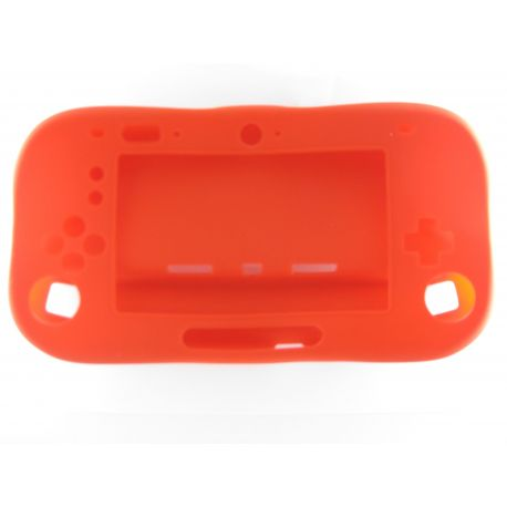 Game pad Nintendo Wii U coque de protection complete souple rouge