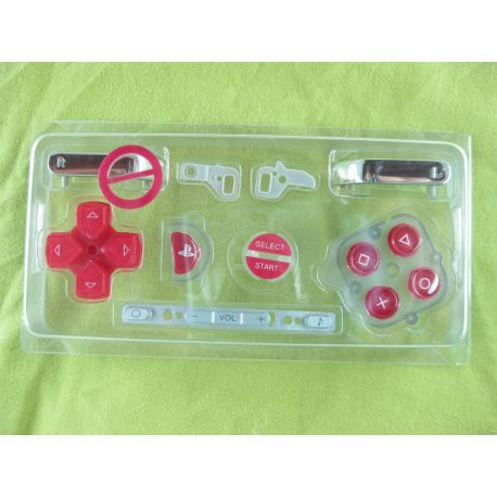 pack boutons rouge nintendo PSP go