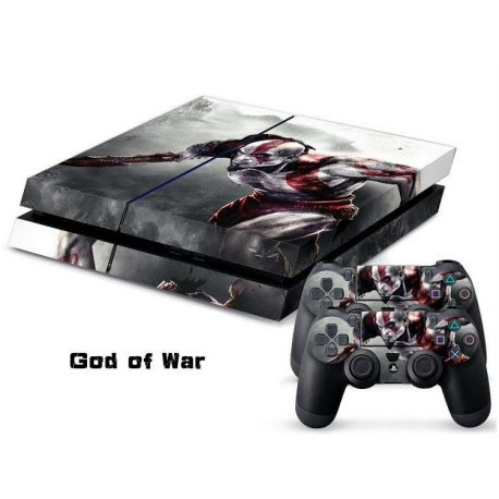 Sticker collant ps4 & manettes: God of war