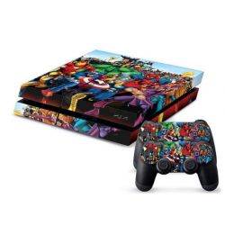 Sticker collant ps4 & manettes: Marvel