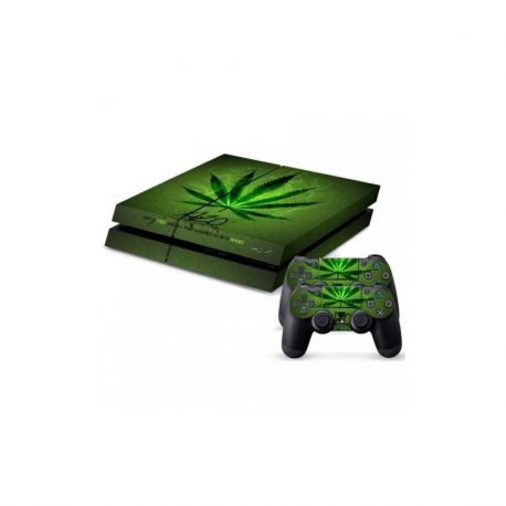 Sticker collant ps4 & manettes: Herbe