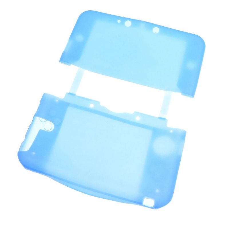 Housse de protection silicone bleu nintendo new for Housse nintendo 3ds xl