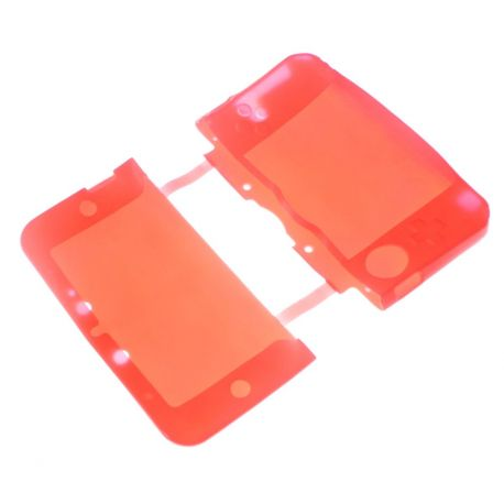 Housse de protection silicone rouge Nintendo NEW 3Ds.xl