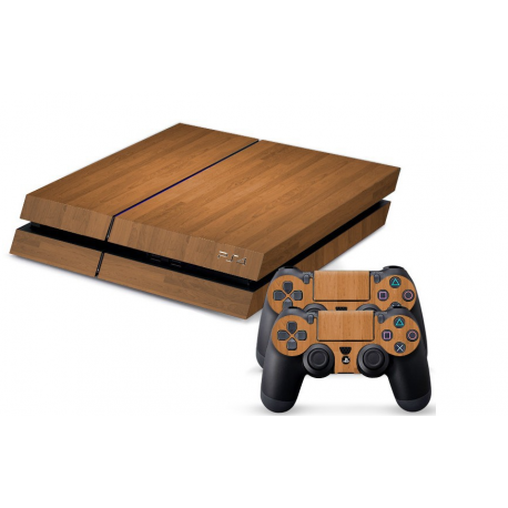 Sticker collant ps4 & manettes: Bois clair