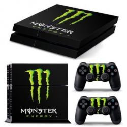 Sticker collant ps4 & manettes: monster energy
